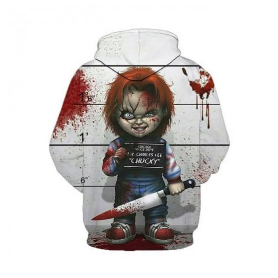 Veste chucky la poupée de sang à capuche