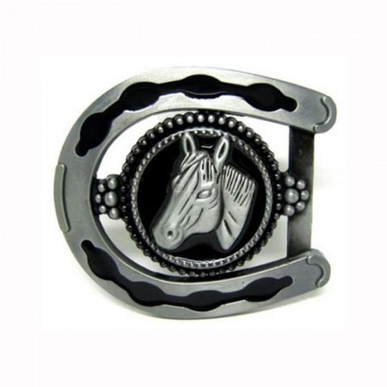 Horseshoe belt buckle with...