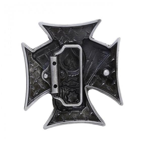 ace bikers rock belt buckle with optional leather belt