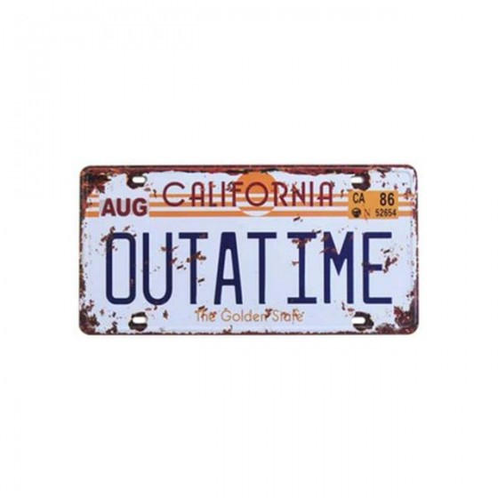 outatime plate back to the...