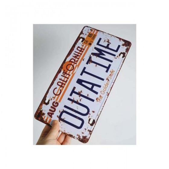 outatime plate back to the future aluminium plate