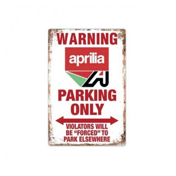 plaque aprila parking only...
