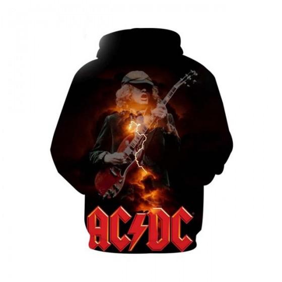 Veste acdc rock à capuche