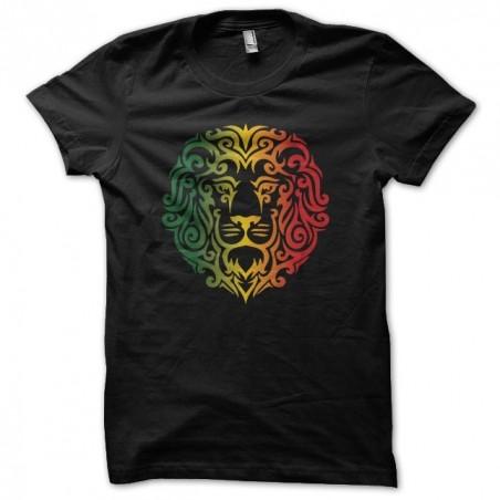T-shirt Rasta Lion tattoo tribal black sublimation