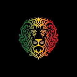 Tee shirt Rasta Lion tattoo tribal  sublimation