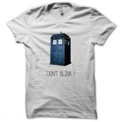 Doctor Who Do not blink white sublimation t-shirt