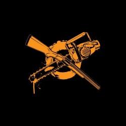Tee shirt Zombie Fusil à pompe ou tronçonneuse  sublimation