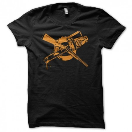 Zombie t-shirt with pump or chainsaw black sublimation