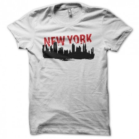 New York city artwork white sublimation t-shirt