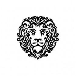 T-shirt Lion tattoo tribal...