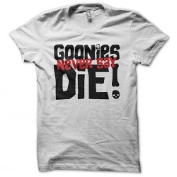 T-shirt never found the Goonies never say die white sublimation