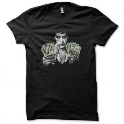 Scarface t-shirt Tony Montana tickets dollars black sublimation