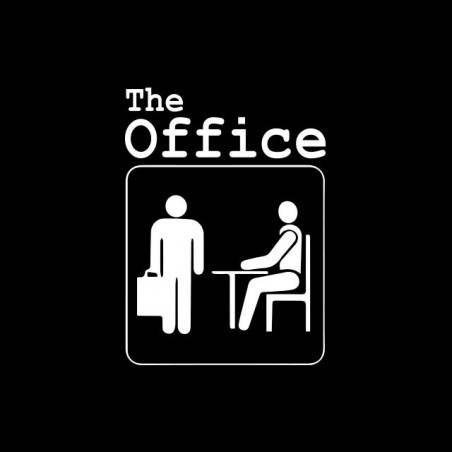 T-shirt with pictogram on the American TV series The Office black sublimation