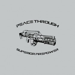T-shirt with laser rifle of the famous Alien Gray Sublimation Saga