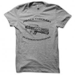 T-shirt with laser rifle of...