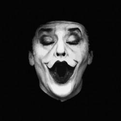 jack nicholson representing the white joker black sublimation