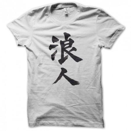 Japanese yakuza white sublimation caligraphy t-shirt