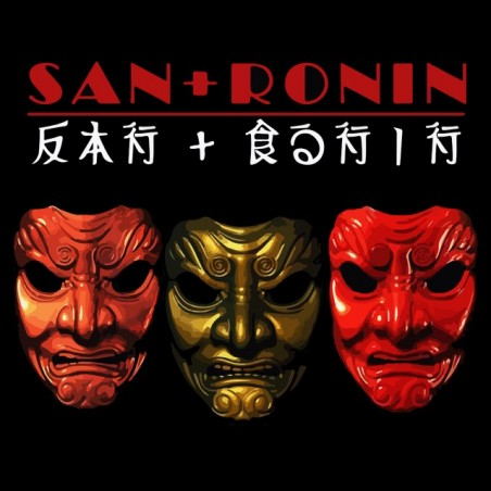 T-shirt masks of robbers clans ronin black sublimation