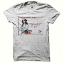 Alice Cooper t-shirt certificate of insanity white sublimation