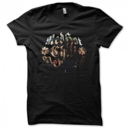 Red Hot Chili Peppers band t-shirt black sublimation