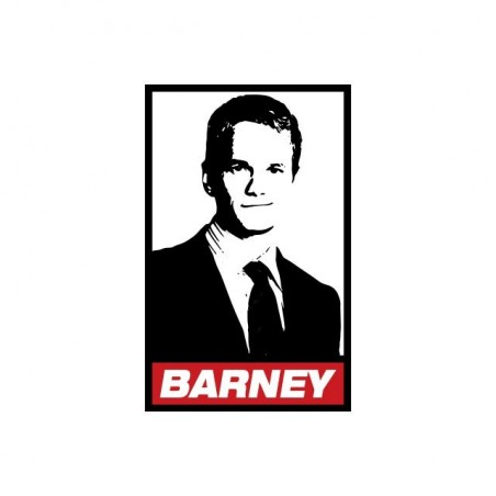 Obey Barney Parody T-Shirt How I Met Your Mother White Sublimation