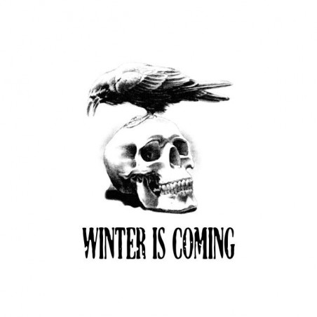 Winter is coming Raven on white skull sublimation t-shirt