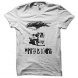 Tee shirt Winter is coming Corbeau sur crâne  sublimation