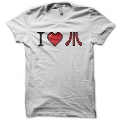 I love Atari pixel art white sublimation t-shirt