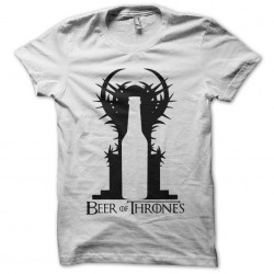 Bees of Thrones parody Game of Thrones white sublimation t-shirt