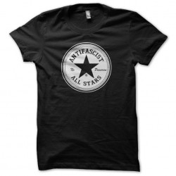 Antifascist No Pasaran All Stars t-shirt Converse parody black sublimation