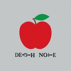 Tee shirt Death Note pomme  sur gris sublimation