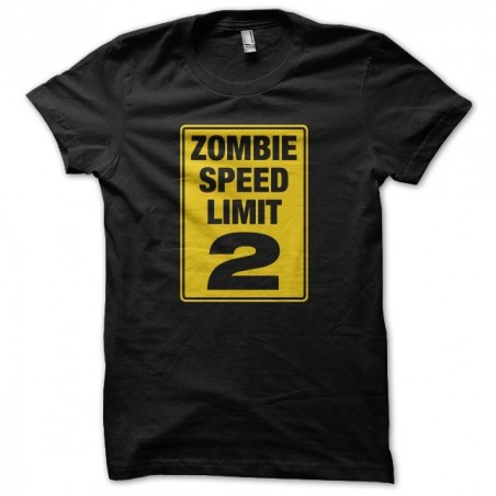 Speed Limit 2 Zombie Black Sublimation Tee Shirt