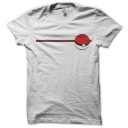 Pokeball fan art white sublimation t-shirt