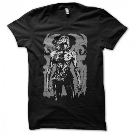Knife no.13 artwork manga black sublimation tee shirt