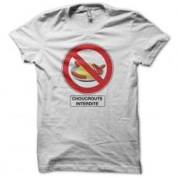 T-shirt Sauerkraut prohibited white sublimation