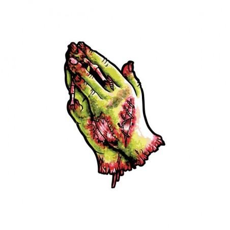 Zombie hands priere white sublimation t-shirt