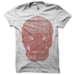 Urban trendy t-shirt Head skull Head skull red white sublimation