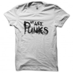 Tee shirt Anthony Rother We are punks Techno minimale  sublimation