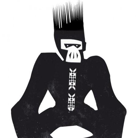 Anthony Rother ape t-shirt Datapunk machine Techno minimal black sublimation