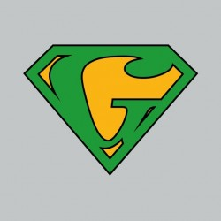 Superman t-shirt parody Ganjaman gray sublimation