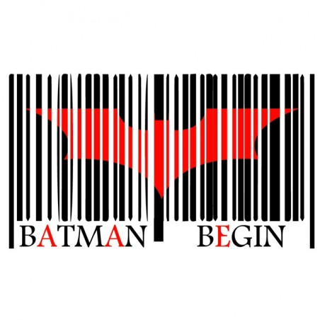 Bar code t-shirt code batman white sublimation