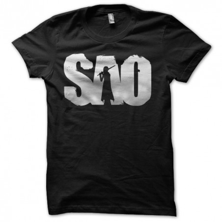 T-shirt 53472 sword art online sao black sublimation artwork
