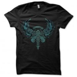 Armored Angel tattoo artwork black sublimation t-shirt