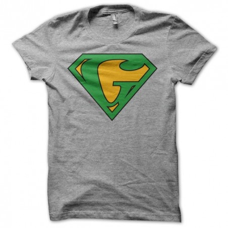 tee shirt Superman parodie Ganjaman gris sublimation