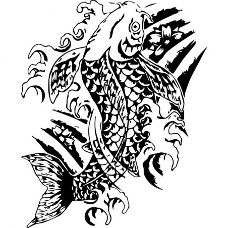 Japanese koi white koi tattoo t-shirt sublimation