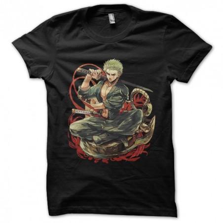 T-shirt Roronoa Zoro manga black sublimation