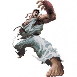Ryu street fighter artwork...