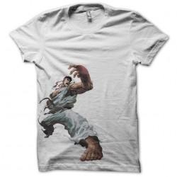 Ryu street fighter artwork white sublimation t-shirt