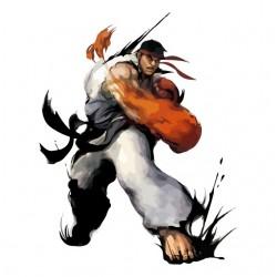 Ryu fist t-shirt in white...