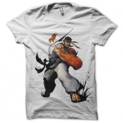 Ryu fist t-shirt in white sublimation